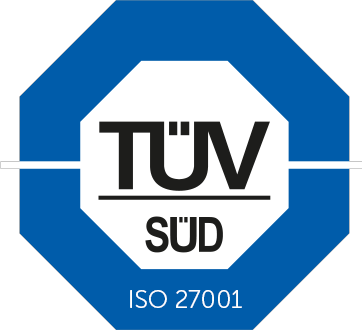 TÜV ISO 27001 certified data center